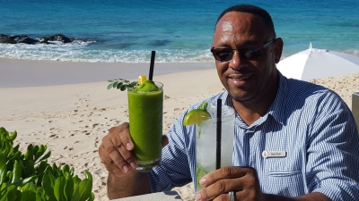 Anguilla Beach Bar Healthy Cocktails at Four Seasons