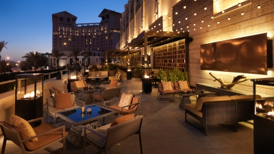 Outdoor Terrace Lounge at Four Seasons Hotel Amman