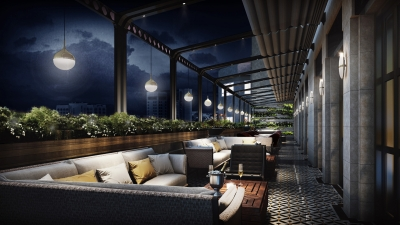 Lounge Area at La Capitale Brasserie, Four Seasons Hotel Amman