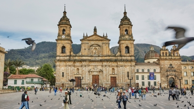Historic churches and lively squares in Bogota