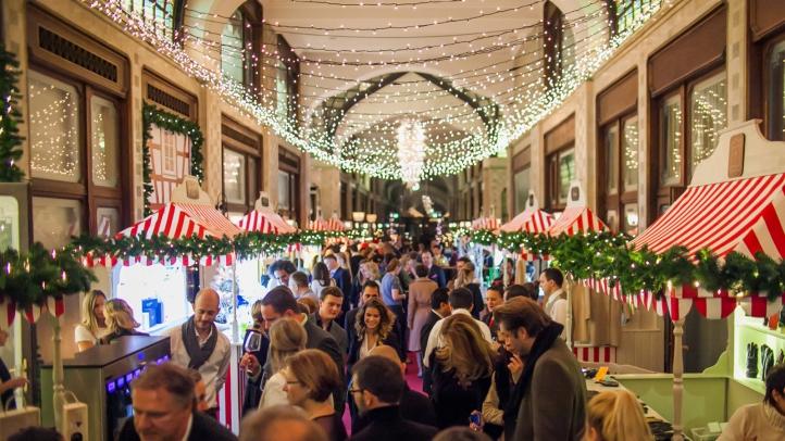 christmas market at four seasons hotel gresham palace budapest