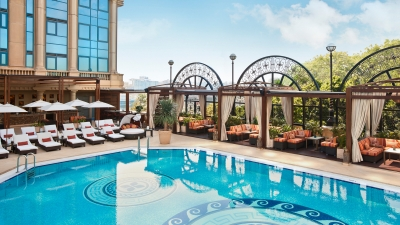 Hotel Pool at Four Seasons Cairo