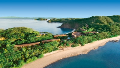 Costa Rica luxury hotel aerial view