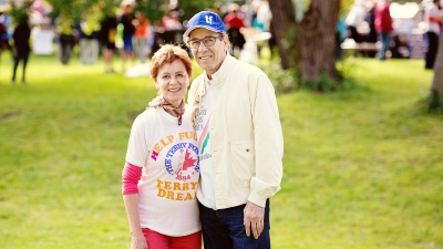 Rosalie and Isadore Sharp at The Terry Fox Run in Toronto