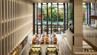 Lobby at Four Seasons Hotel Kyoto