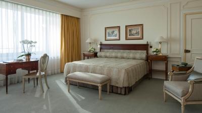 guest room at four seasons hotel ritz lisbon