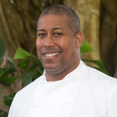 Chef de Cuisine Kemar Durfield at  Four Seasons Resort Lanai