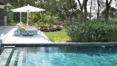 New four bedroom premium residence villa at four seasons for Garden pool villa four seasons mauritius