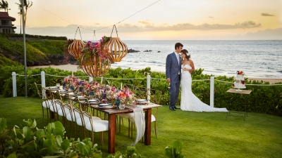 Wedding in Maui at Four Seasons