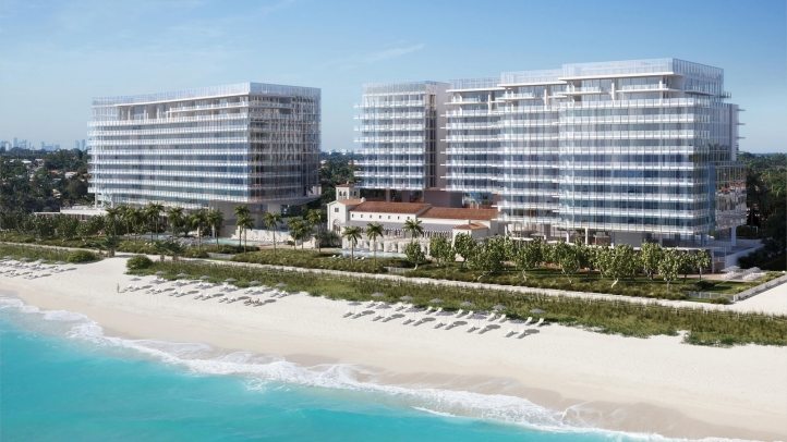 Exterior View Of Four Seasons Hotel At The Surf Club Surfside