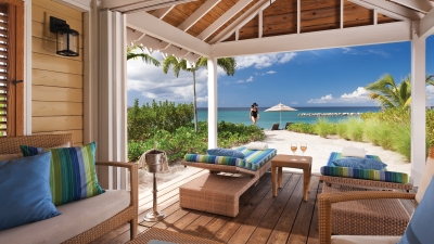 Nevis Beach Resort Patio at Four Seasons