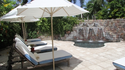 Outdoor Lounge at Four Seasons Resort Nevis