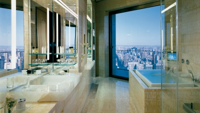Ty Warner Penthouse Bathroom, Four Seasons Hotel New York