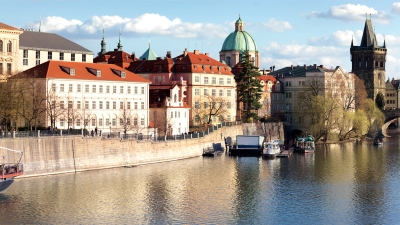 Take the Four Seasons boat out on the Vltava River