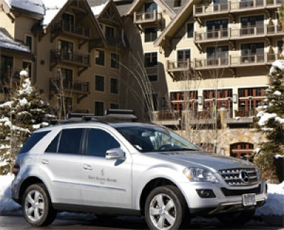 Mercedes-Benz SUV at Four Seasons Resort and Residences Vail