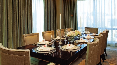 Royal Suite Dining Setup at Four Seasons Hotel Washington, DC