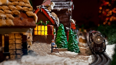 Holiday Gingerbread Village in Four Seasons Hotel Austin