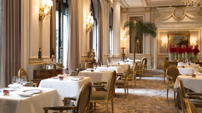 Michelin-Starred Le Cinq Restaurant at Four Seasons Hotel George V, Paris