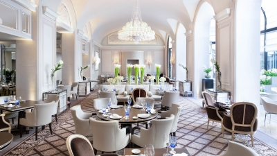 Michelin-Starred Le George Restaurant at Four Seasons Hotel George V, Paris