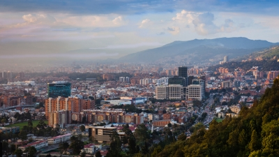 Bogota, Colombia - Looking towards Usaquen from La Calera
